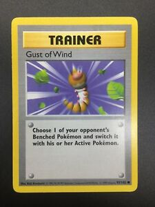 Gust of Wind 1999 Shadowless 93//102 Near Mint Base Set Common Trainer Card