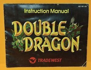 Double-Dragon-Nintendo-NES-Instruction-MANUAL-ONLY-No-Game