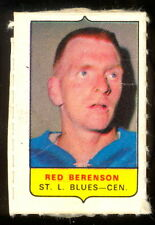 1969-70 OPC O-PEE-CHEE MINI 4 in 1 RED BERENSON ST LOUIS BLUES EX+ STAMP Sticker
