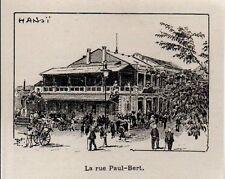 1898  --  INDOCHINE   HANOI  LA RUE PAUL BERT   3K595