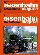 Eisenbahn Magazin Modellbahn --1992--Ausgabe 7+ 8 -- 2 Stück -