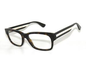 97b7fb8caf5 Gucci 0343O 005 55 Avana Multicolor Eyeglasses Unisex 889652156071 ...