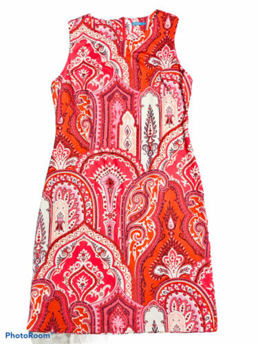 J MCLAUGHLIN Pink Paisley Catalina Cloth Sleevel… - image 1