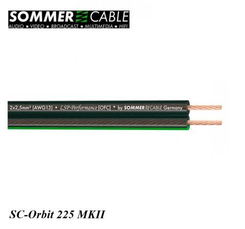 Sommer Cable Lautsprecherkabel SC-Orbit 225 MKII; 2 x 2,5 mm² HighEnd pro Meter