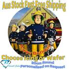 20cm Round Fireman Sam Edible Image Icing or Wafer Cake Topper Kids Birthday