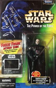 Star-Wars-Dave-Prowse-Signed-Darth-Vader-Removable-Helmet-Freeze-Frame-POTF