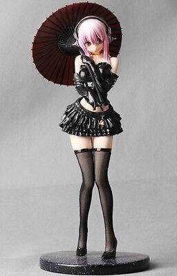 NITRO SUPER SONICO Black Gothic Lolita + Parasol SUPER SEXY! RESIN FIGURE LQQK!