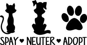 Spay-Neuter-Adopt-Decal-Window-Bumper-Sticker-Car-Dog-Cat-Pet-Rescue-Paw-Love-P