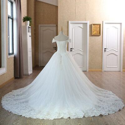 White//ivory 2021 New Wedding dress Bridal Gown Stock Size 6-8-10-12-14-16-18+@