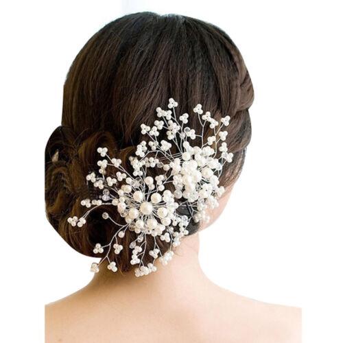 Kristall Blume Faux Strass Hochzeit Braut Blumen Haar C Haar Nadel Party Ha B5K8