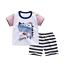 New children/'s summer short-sleeved cotton t-shirt suit boys and girls