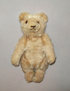 Old-Antique-Vtg-Ca-1930s-Miniature-Jointed-Bear-6-034-Tall-Glass-Eyes-Very-Nice