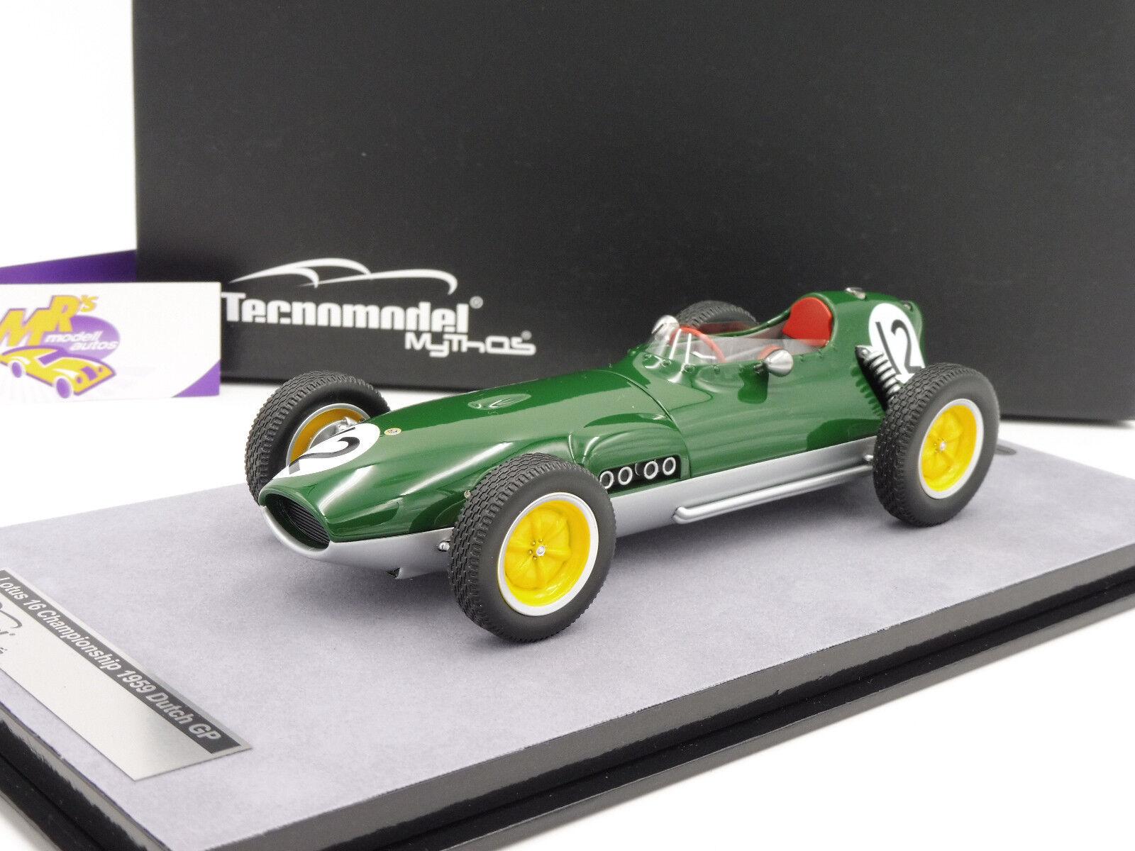 TECNOMODEL tm18-123b  lotus 16 f1 championship Dutch GP 1959  Ireland  1 18