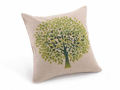 """New Vintage Green Tree Cushion Cover Throw Pillow Case 18"""" Decorative Sofa"""
