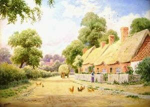 THE VILLAGE STREET W/COL A H JOHNSON 1921