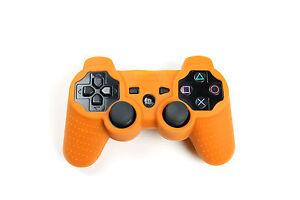 Playstation-3-Silikon-Schutzhuelle-Controller-Huelle-fuer-PS3-Neu-Orange
