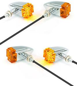 Moto-Indicadores-LED-Cromo-De-Cruz-De-Malta-Retro-Proyecto-Personalizado-Motos-2-Pares