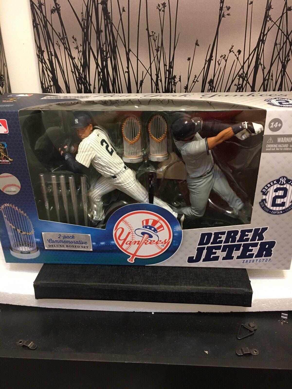 New 2014 McFarlane New York Yankees Derek Jeter 2 Pack Commemorative Boxed Set