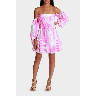 NEW Mossman A Day In The Navy Mini Dress Pink