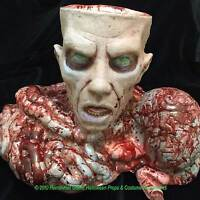 Severed Zombie Head Brain Bowels Candy Bowl Prop-haunted House Horror Decoration