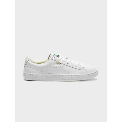 New Puma Mens Basket Classic Sneakers In White Sneakers Low Top