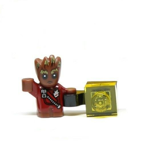 LEGO MARVEL SUPER HEROES 'BABY GROOT' MINIFIGURE - SPLIT FROM SET 76080