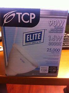 QTY-1 LED14P30D30KFL TCP Elite Halogen 1100 lumens Dimmable 90w 14w 3000k