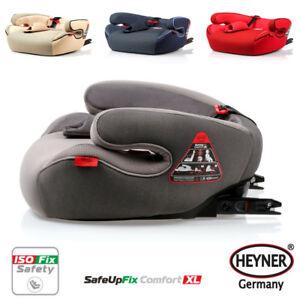 HEYNER SafeUpFix Premium Child Car Booster Seat Isofix Safe Junior 3 Group 4-12y Pantera Black