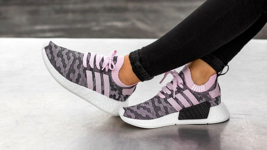 Adidas W Women NMD R2 PK W Adidas Wonder Pink CAMO Glitch Primeknit Boost Black White 7.5 8a0859