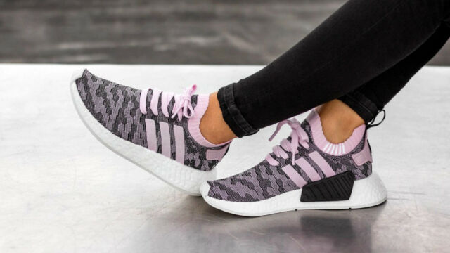 best supplier new style new collection adidas NMD R2 Running Shoes for Women, Size 8 - Pink