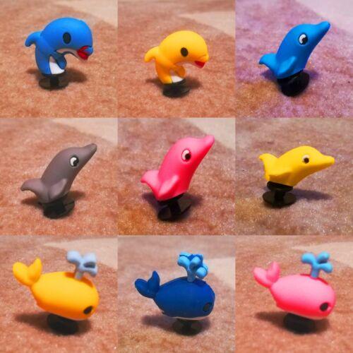 9pcs 6 Dolphin 3 Whale 3D PVC Shoe Charms Similar to Jibbitz fits Crocs SALE