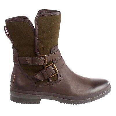 affdf36b92a New UGG Australia Womens Simmens Waterproof Leather Wool Buckle Boots Brown  Sz 6 | eBay