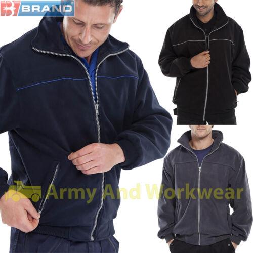 CLICK Workwear Endeavour Giacca In Pile Tinta Unita Cerniera Intera Tasche Lavoro All/'aperto CAPPOTTO