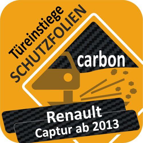 Renault Captur charol lámina de protección türeinstiege faldones película protectora