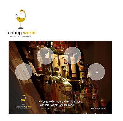 6 Stück TASTING GLAS UNTERLAGE Tastingunterlage für Whisky/Rum Tastings zuhause