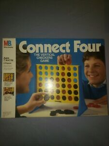 Vintage-Connect-4-Four-Vertical-Checkers-Game-Milton-Bradley-1986-COMPLETE