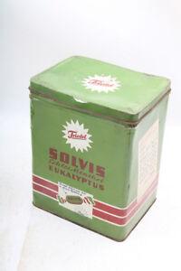 Beau-Ancienne-Boite-de-Conserve-Collector-Vide-Boite-Tole-Vert-Old-Vintage-RAR