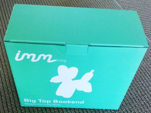 Balloon Dog /'Big Top/' Bookend Sculpture TEAL Solid Heavy Resin **NEW**