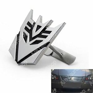 3D-Car-Transformers-Decepticon-Front-Grille-Grill-Badge-Emblem-Decals-Chrome-BS1