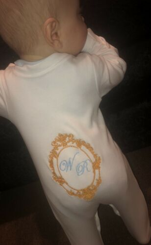PERSONALISED EMBROIDERED BABY BLANKET Boys Girls Gifts Bling Romany Baby