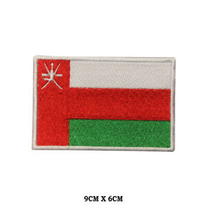 OMAN National Flag Embroidered Patch Iron on Sew On Badge For Clothe etc