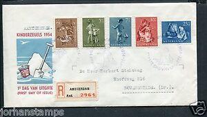FDC E19 - E 19 Kinderzegels, getypt adres en R-strook
