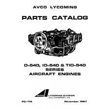 Lycoming Aircraft Engine Parts Catalog PC-115