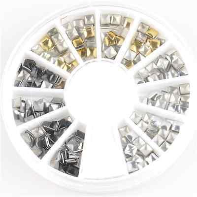 Wholesale 3D Acrylic Nail Art Tips Decoration Glitter Rhinestones DIY Wheel Sets