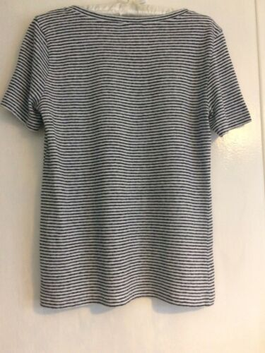 Pocket S shirt Stripe Knitted Jaeger T With qBZZ7v