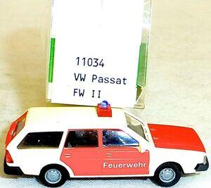 Pompieri-II-VW-PASSAT-VARIANTE-IMU-EUROMODELL-11034-H0-1-87-conf-orig-HO-1-A