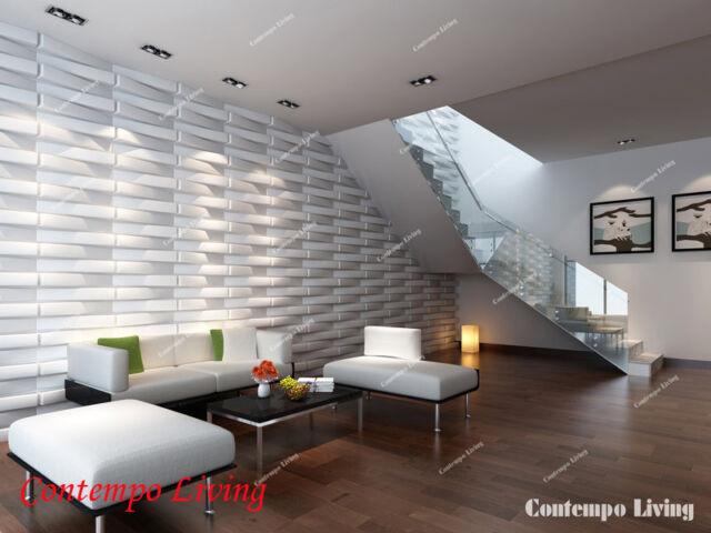 Brooklyn Design 3D Glue on Wall Panel Plant Fiber Material 1 Box of 32 sqft
