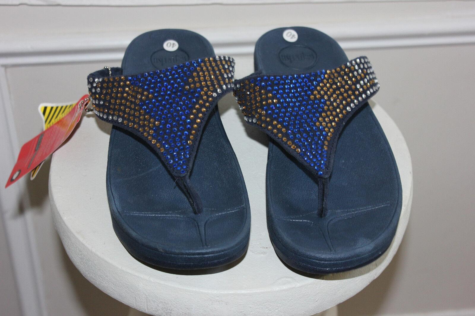 Nueva Acolchada Flip-flop Azul Sandalia Sandalia Sandalia Zapatillas Zapatos Talla 36  ventas en línea de venta