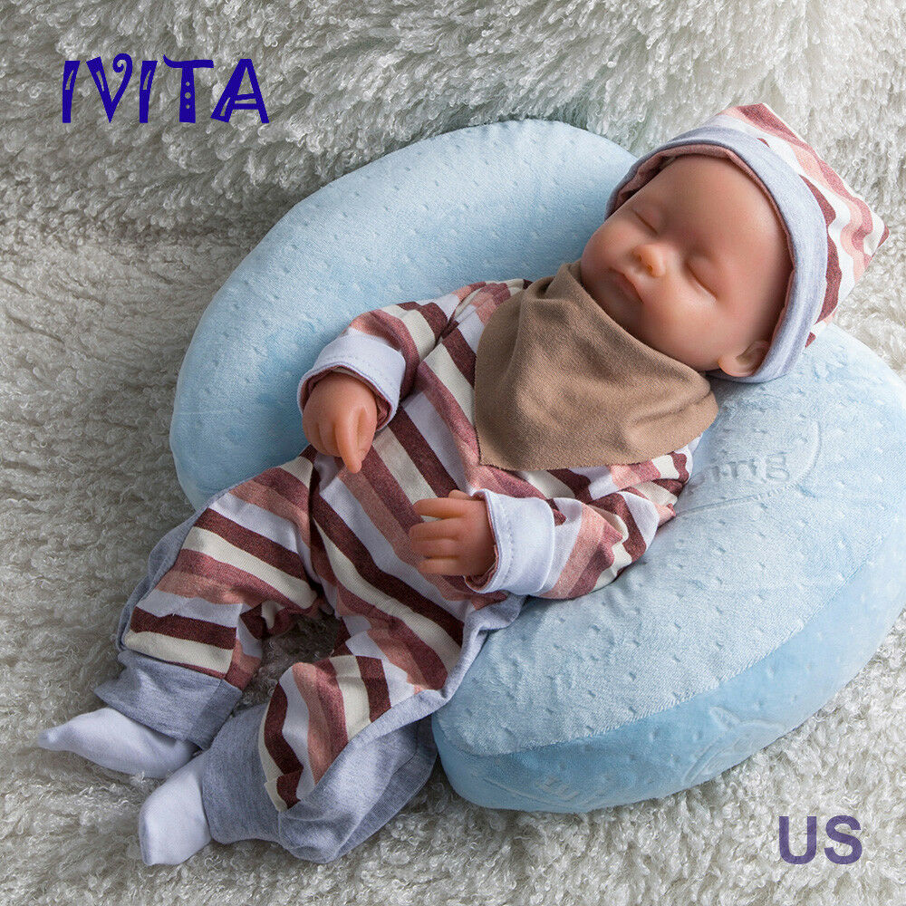 15  1.8KG Lifelike cuerpo completo suave Silicona Reborn Bebé niñas Muñecas disquete