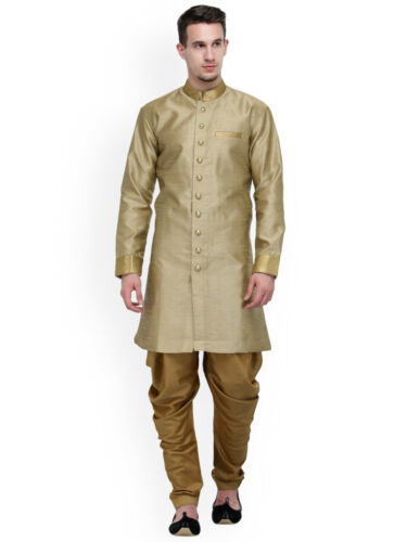 Traditional Indian Men Eid Designer Ethnic Silk Party Wear Silk Wedding Sherwani